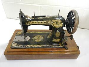 Singer 15k Sphinx Sewing Machine, No Pedal Vintage Antique J483049
