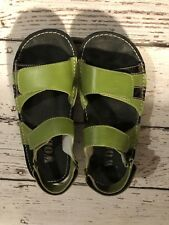 Wolky Ladies Green Leather Summer Comfort Sandals Women's Size 38 Made in Mexico
