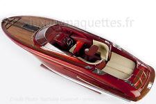 Maquette Riva Rivarama Blanc ou Rouge ou Bleu 65 cm wooden model boat Modelisme