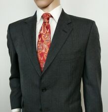 Gieves & Hawkes Suit Grey Herringbone Wool Personal Tailored 42S W38 L29 RRP£995
