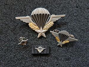 (C1) Fallschirmjäger Französisches Springerabzeichen Airborne Abzeichen SET