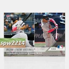 2018 Topps Now #208 Players Wear Mothers Day Pink - Stanton, Betts, Puig, Lindor