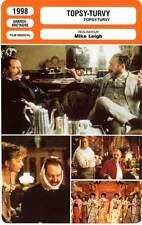 FICHE CINEMA : TOPSY TURVY - Broadbent,Corduner,Fletcher,Leigh 1998