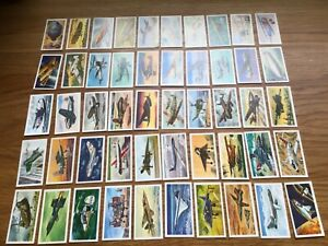 Brooke Bond Tea Cards,1972, A HISTORY OF AVIATION, full set, very good condition