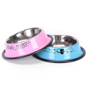 1PC Pet Feeding Bowl Anti-skid Pet Dog Cat Food Water Bowl Feeding Drinking BoCA