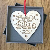 Personalised Family Christmas Decoration Gifts For Mummy Daddy Kids Decorations