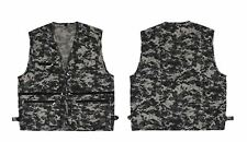 Camo Vest Multi Pocket Camera Outdoor Traveler Fishing Working Photography Hunt