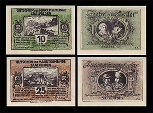 1920 AUSTRIA (SAALFELDEN) 2 'NOTGELD' BANKNOTE SET