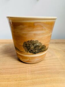 Boscastle Pottery Planter, Mochaware Trees by Roger Irving Little