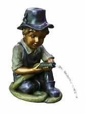 More details for bermuda boy with hose spitter garden pond ornament water feature or garden