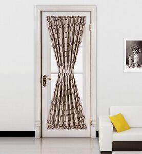 "1 Chevron Zig-Zag Design Blackout Window Curtain French Door Panel 55""X72"" MEME"