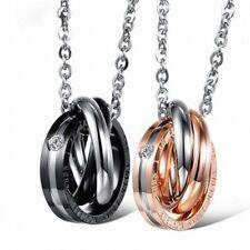 Pendant Necklace Titanium Steel Gothic Chain Couple Men Jewelry Valentines Gift