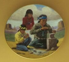 Proud Indian Families The Jewelry Maker Plate Native American Indians Striking!