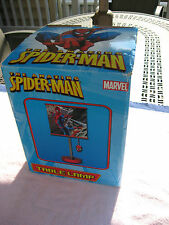 Marvel Spiderman Childrens Side Table Lamp/ Square Shade Boys Bedroom Accessory