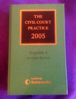 THE CIVIL COURT PRACTICE 2005 VOLUME 1 OCTOBER REISSUE LAW BOOK - LEXIS NEXIS