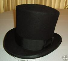 Awesome Black Wool Dickens Era Bell Topper Hat - XL!