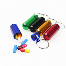 Practical Mini Emergency Pill Case Bottle Holder Container Key chain Key ring
