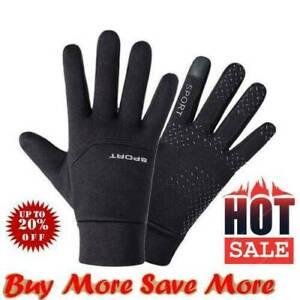 Football Gloves Kids Boys Waterproof Thermal Grip Outfield Field Sports Pla Q7Z4