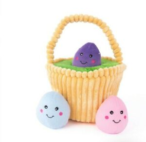 ZIPPY PAWS-EASTER BASKET BURROW INTERACTIVE SQUEAKER TOY - FREE POST