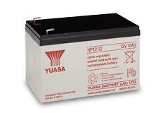 YUASA Battery, genuino, 12v/12ah BATTERIA al piombo sigillate-np12-12 GRATIS P&P