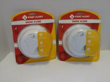 2 pack of First Alert Battery Powered Smoke & Fire Detector Alarms New