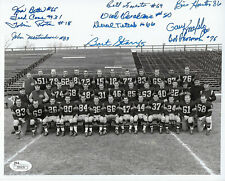 1956 PACKERS Bart Starr ROOKIE YEAR team signed 8x10 photo JSA COA AUTO