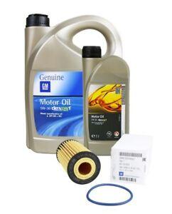 ORIGINAL GM OPEL Motoröl 5W30 dexos1 Gen2 6 Liter + Ölfilter 95526686   1.6 SIDI