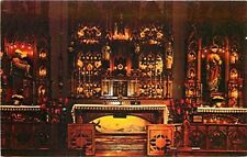 Maria Stein Ohio~Relic Chapel Interior~Shrine of Holy Relics~1960s Postcard