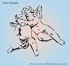"""Joanie Design Stencil 10"""" Angel Cherubs Heavenly Valentine Love Baby Art Signs"""