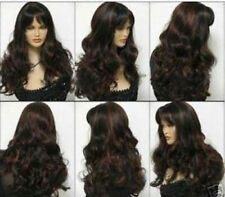 CHWJ1007  New health hair long brown red mix black  wig fashion wigs curly women