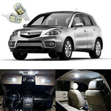 12 x Xenon White LED Interior Lights Package Deal Kit For Acura RDX 2007 - 2012