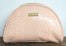 SHISEIDO LIGHT PINK SNAKE EMBOSSED MAKEUP PURSE CASE CLUTCH POUCH COSMETIC BAG