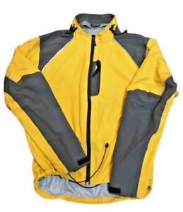 Gill Fishing Angler Mens Jacket Size XL Yellow & Gray Waterproof eVent Fabric