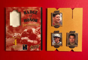 3 ACTION PACKED NFL Greatest Players Badge of Honor Vtg 94 Football STEVE YOUNG