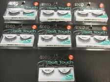 7 PAIRS ARDELL SOFT TOUCH 154 BLACK FALSE EYELASHES TAPERED END LASHES - EL 54