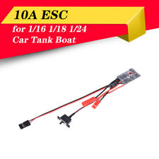 RC Car 10A Brushed ESC Two Way Motor Speed Controller for 1/16 1/18 1/24 RC Boat