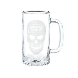 Official WWE Authentic Stone Cold Steve Austin 16oz. Glass Mug Black