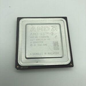 AS-IS AMD 500mhz AMD-K6-2 500AFX CPU Super Socket 7 2.2v core 3.3v K6-II Vintage