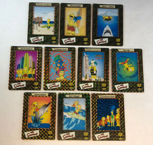 THE SIMPSONS FILM CARDZ (Artbox/2000) Complete FOIL CEL Chase Card Set of 10