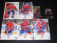 "CHRIS NILAN autographed MONTREAL CANADIENS ""centennial"" card #46"