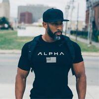 T shirt Fitness bodybuilding shirts Crossfit 2017 new men cotton Short sleeve