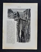 1878 Picturesque Print - Gray Man's Path - Fair Head Antrim County North Ireland