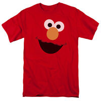 SESAME STREET ELMO FACE Licensed Adult Men's Graphic Tee Shirt SM-5XL