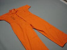 Inmate Jail Prisoner Convict Costume Prison Orange Jumpsuit 3XL