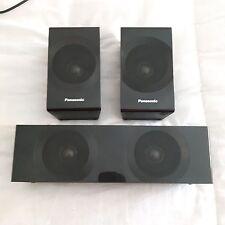 Negro-centro de unidades de altavoz envolvente & Panasonic-Excelente Estado En Funcionamiento