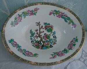 Indian Tree china oval serving bowl for pasta, rice, vegetables etc