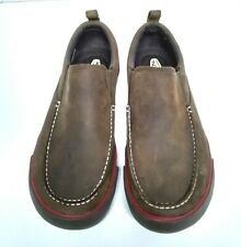 Men's KEEN Timmons Slip On Casual Moc Toe Shoes Loafers Brown Leather Size US 9M