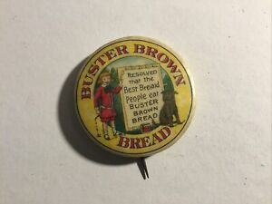 Buster Brown Bread Advertisement Pin Comic Character 1900s