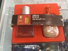 Jovan Musk Oil For Men Gift Set with 118ml Aftershave/Colgone, 198.4g Bar Soap