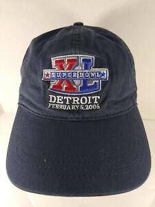 🏈 Super Bowl XL Detroit 2006  Steelers (W) 24 - Seahawks 10 Hat Cap Navy Blue